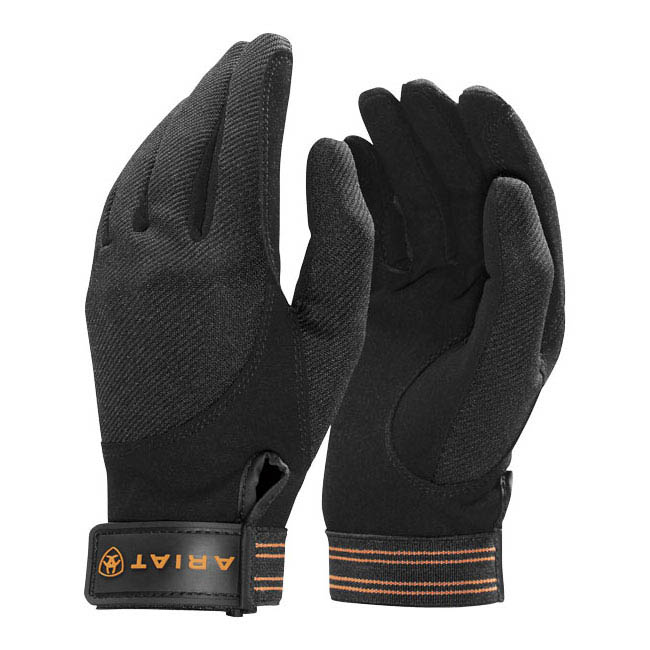 Ariat Tek-Grip Gloves. Black.