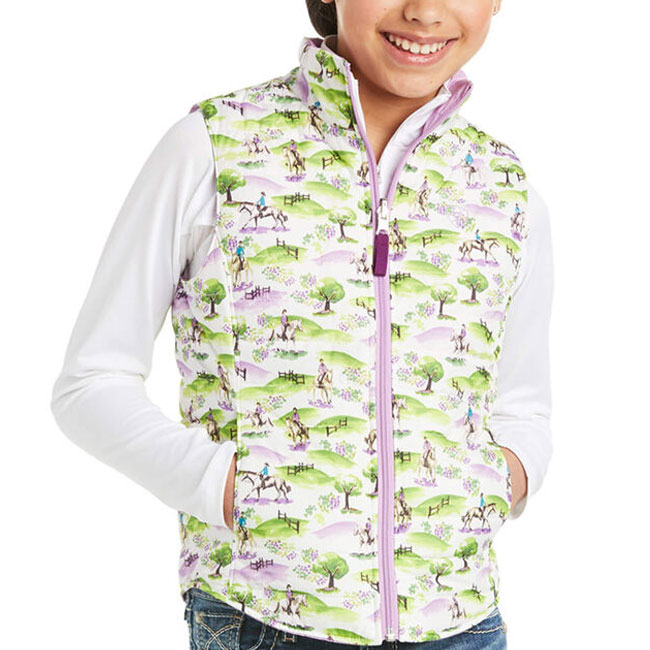 Ariat Girls Emma Reversible Vest. Light Purple.