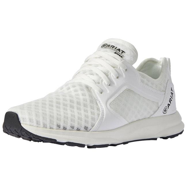 Ariat Ladies Fuse Team Sneakers. White.