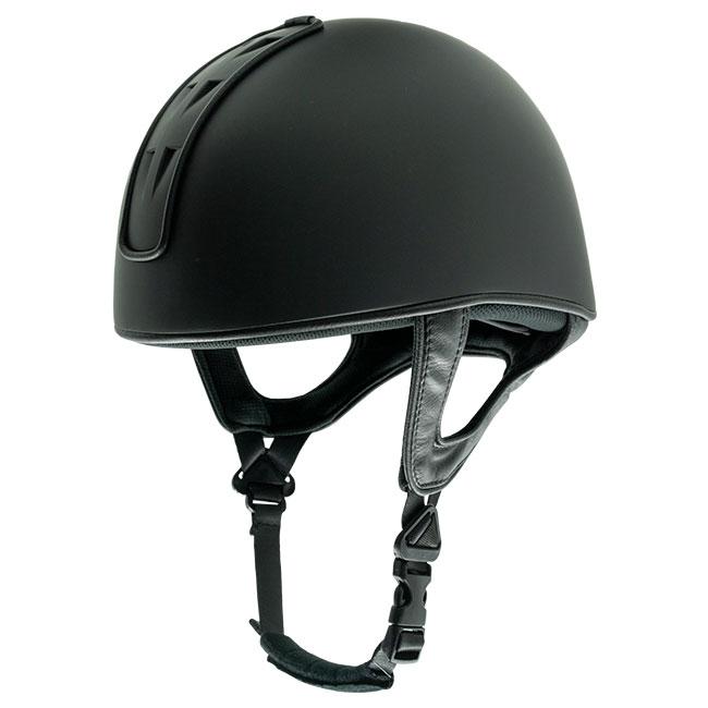 Club jockey helmet. Vented. Black.