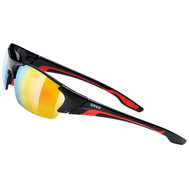Uvex Blaze II sport sunglasses. Black and red. Interchangeable lenses.