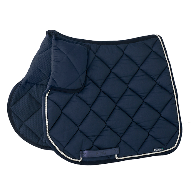 Prestige Lux Trapezium Jumping Numnah. Navy with wiith withe trim. Full size.