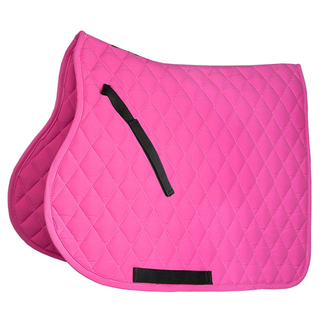 Equest Micro Diamond Saddlecloth. Pink. Jumping shape.
