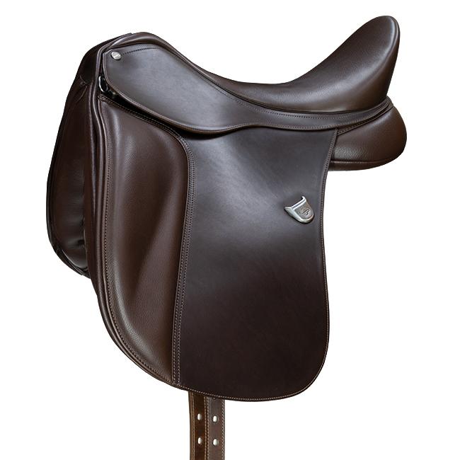 Bates Dressage Hart Adjustable Stirrup Bar Saddle. Brown.