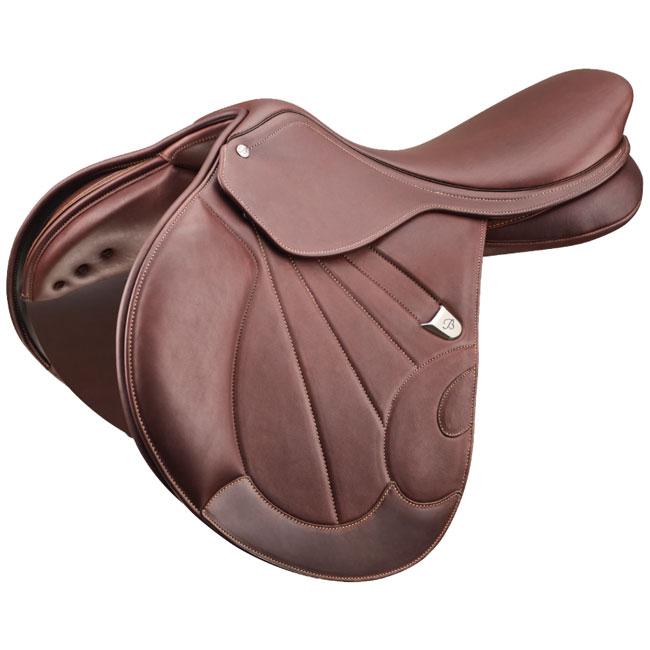 Bates Victrix Hart Jump Saddle. Brown close contact jumping saddle.