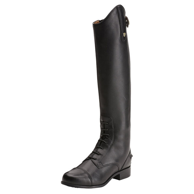 Ariat Childrens Heritage Contour Tall Boot. Black.