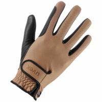 Uvex Tensa II Gloves. Caramel and Black.