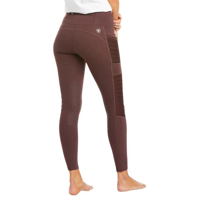 Ariat Ladies EOS Moto Knee Patch Tights. Dark Purple.