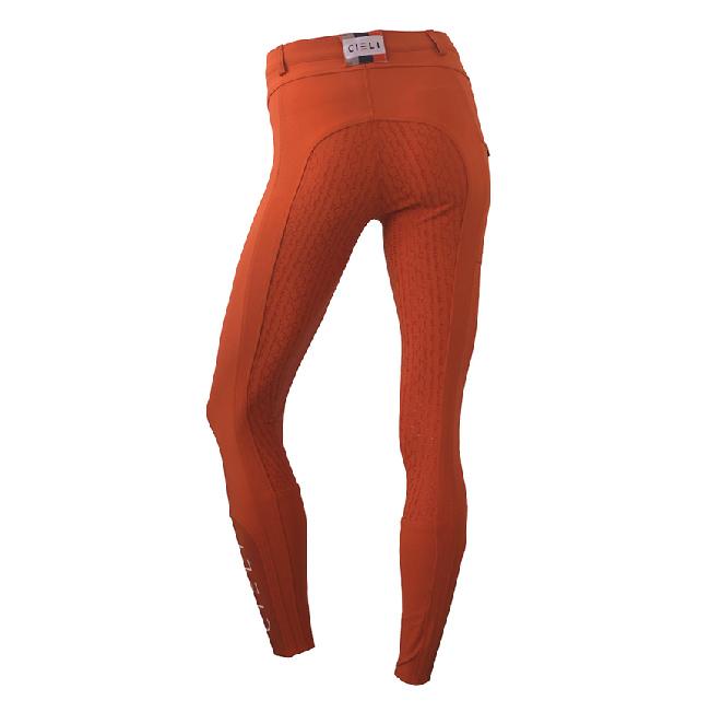 CIELI Ladies Miami Full Seat Breeches - Orange Back