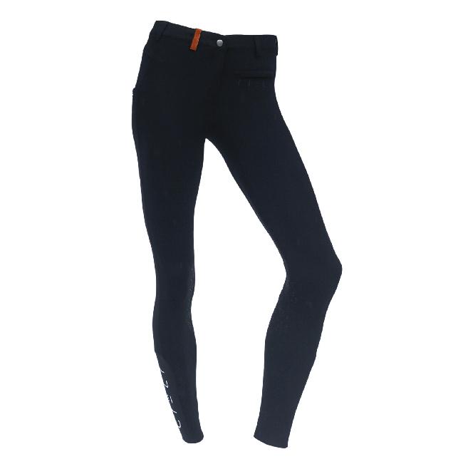 CIELI Ladies Miami Half Seat Breeches - Black Front
