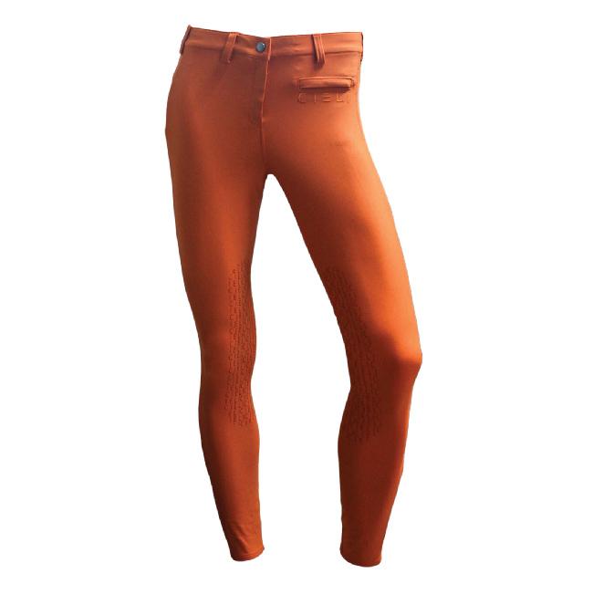 CIELI Ladies Miami Half Seat Breeches - Orange Front