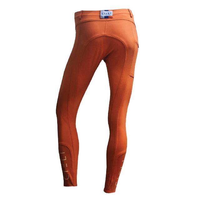 CIELI Ladies Miami Half Seat Breeches - Orange Back
