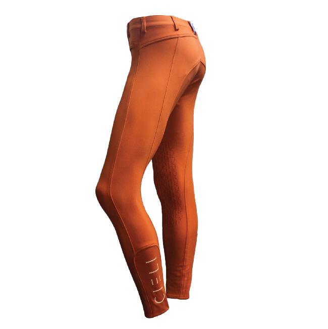 CIELI Ladies Miami Half Seat Breeches - Orange Left