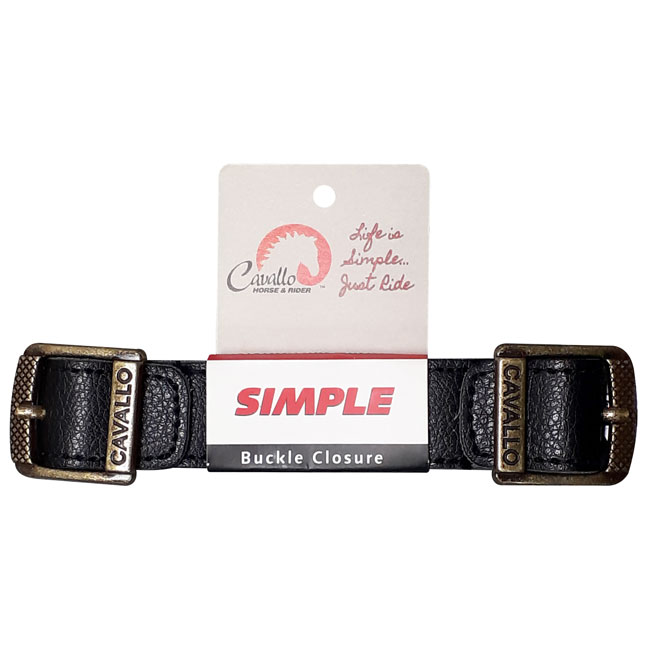 Cavallo Simple/Entry Level Hoof Boot Buckle Strap. Black.