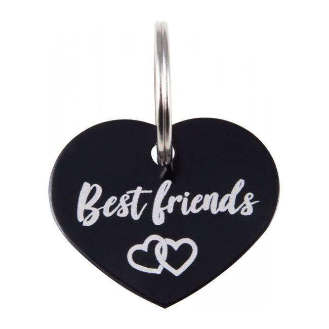 Soulhorse Best Friends Tag. Black.