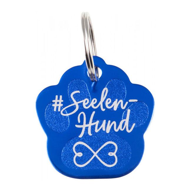 Soulhorse Seelenhund Dog Paw Tag. Blue.
